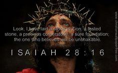 Isaiah 28 Verse 16 - Christian Wallpaper Free