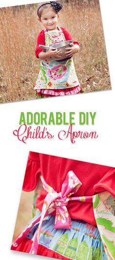 Adorable DIY Child's Apron howdoesshe.com