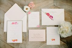 invitation suite // floral // pink // wedding invitations // southern weddings