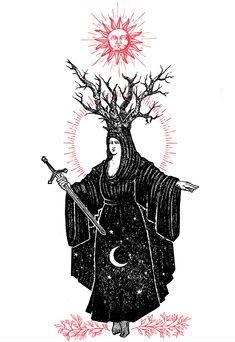 """This is a signed original print of Micah Ulrich's """"Virgo"""" printed on watercolor paper. Occult Tattoo, Occult Art, Virgo Constellation Tattoo, Satanic Art, Desenho Tattoo, Watercolor Print, Tattoo Watercolor, Tattoo Sketches, Gravure"""