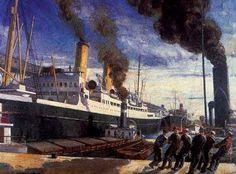"""""""Port"""" - Adrien Hébert (1890-1967)"""