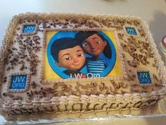 JW Cake< perfect for a witnessing group cake. Or JW kids party Caleb Y Sofia, Caleb And Sophia, School Cake, School Gifts, Sophia Cake, Bible Cake, Jw Gifts, Kids Gifts, Jw Bible