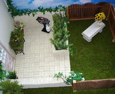 Barbie patio 1:6th scale