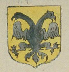 Le Prieuré de Villiers. Porte : d'or, à un aigle à deux testes de sable | N° 117 > Loches