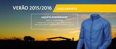 LANÇAMENTO VERÃO 2016: Jaqueta Windbreaker  Jaqueta tipo corta-vento, produzida em tecido ripstop de poliamida que repele a chuva fina e protege do vento.