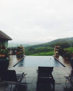 home view, backyard pool