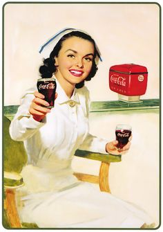 Fiz a seleção de alguns pôsters vintage de campanhas da Coca-cola. Algumas delas datam de antes do ano de 1900. Podemos notar que grande parte deles usam com