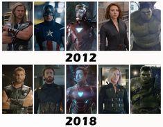 The original Avengers, 2012 vs 2018