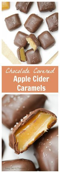 This chocolate covered Apple Cider Caramels recipe is easy to make. The perfect