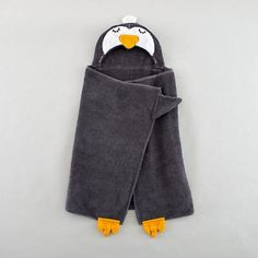 adorable penguin towel