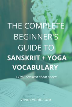 Yoga for Beginners Part 4 is here and it's all about yoga words + yoga vocabulary for beginners! Here are some essential yoga vocabulary for beginner yogis + everyone who's excited to start yoga at home. Get to know some of the most basic Sanskrit yoga words and yoga vocabulary for beginners to get a deeper connection to your yoga practice. This is the fourth and FINAL part of our yoga for beginners series and it'll give you a sneaky little peek into yoga vocabulary, Sanskrit, and yoga…