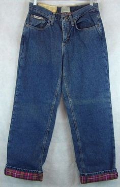 Flannel Lined Jeans Womens