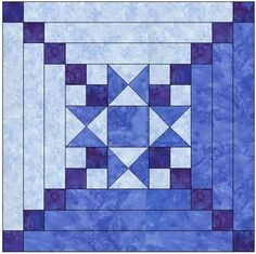 Star Center Log Cabin Quilt Block Pattern Download - Adobe Pattern