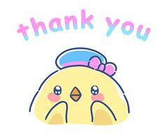 Thank You Gifs, Thanks Gif, Sumiko Gurashi, Manga Anime Girl, Thank You Stickers, Gif Pictures, Baby Chicks, Line Sticker, Cute Gif