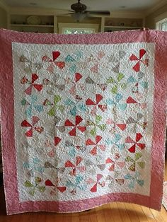 Ruby quilt, quilting by stitch by stitch blog!, via Flickr. (Camille's dilly dally pattern)