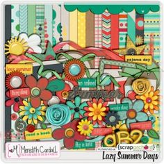 Lazy Summer Days digital scrapbook kit by Meredith Cardall | retired - Contact me to add a reserved listing on Etsy.