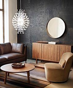 Glamouröse Kombi: braune Holztöne und sattes Schwarz - Moderner Retro-Stil und farbige Wände 6 - [SCHÖNER WOHNEN]