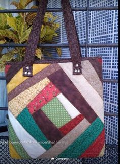 Best Ideas For Sewing Projects Tutorials Simple - Tasche Ideen Bag Pattern Free, Bag Patterns To Sew, Sewing Patterns Free, Pattern Sewing, Free Sewing, Patchwork Bags, Quilted Bag, Denim Tote Bags, Craft Bags