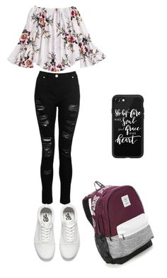 """""""Go to school outfit"""" by vannahbear28 on Polyvore featuring Dorothy Perkins, Vans, Victoria's Secret and Casetify"""