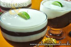 Receita de Mousse de Chocolate e Limão