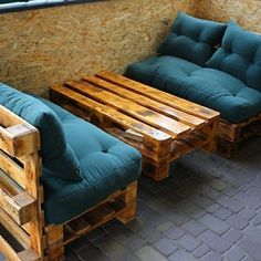39 Ideas For Diy Furniture Couch Homemade Coffee Tables Recycled Pallet Furniture, Wooden Pallet Projects, Recycled Pallets, Wood Pallets, Pallet Ideas, Pallet Wood, Diy Furniture Couch, Wooden Furniture, Outdoor Furniture Sets