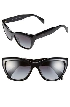 Free shipping and returns on Prada 'Poeme' 56mm Sunglasses at Nordstrom.com. Timeless sunglasses fitted with polarized lenses flaunt a bold cat-eye silhouette for a sleek and sophisticated look.