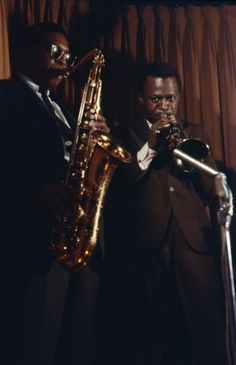 Coltrane with the shades & Miles with the chocolate brown suit is pretty killer.