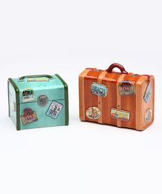 Sugar High Social Luggage Salt & Pepper Shakers | zulily