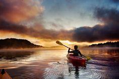 Wouldn't You rather be Kayaking? www.TheRiverRuns.info #kayaking #kayak #sunrise