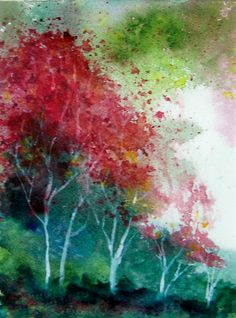 Cherry Blossoms watercolor 5/7