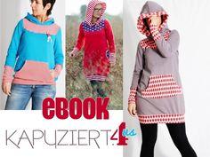 """Nähanleitungen Mode - eBOOK # 60 ✪ Damen Hoodie """"KAPUZIERT.4us"""" - ein Designerstück von leni-pepunkt bei DaWanda"""