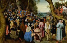 12_Питер Брейгель младший Адский (1564-1638) Проповедь св.Иоанна Крестителя в пустыне_дерево (дуб) масло