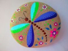 DRAGONFLY Painted Rock Acrylic paints on a river rock, natural stone background, clear matte finish Size : 3 x 2.5 x 1 inch Custom orders available (message me) Thank you for visiting