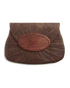 Mar Y Sol  Opal Raffia Clutch Bag