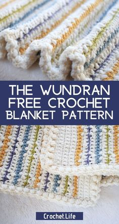 Fall in love with crocheting with this free Wundran crochet baby blanket. Crochet Blanket Patterns, Baby Blanket Crochet, Crochet Baby, Free Crochet, Knit Crochet, Tigger, Easy Crafts, Crochet Projects, Crocheting