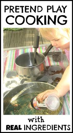 Give your child simple REAL ingredients to bring their pretend play to life. We use old seasonings, strawberry tops, orange peels, and other simple food scraps.