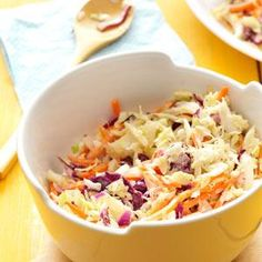 Zesty Coleslaw Recipe -This simple slaw tastes best when it's refrigerated for at least one hour. The mixture seems to get creamier as it sits.  —Michelle Gauer, Spicer, Minnesota