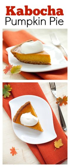 Kabocha Pumpkin Pie - make a twist to your pumpkin pie this year with kabocha pumpkin which is sweeter and better | rasamalaysia.com