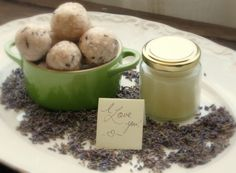 lavender soap balls & coconut oil hand cream
