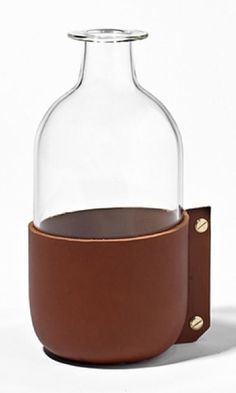 Simon Hasan Leather Wrapped Bottle | Garde