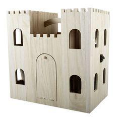 art minds artminds wood castle dollhouse - Painted Wood Castle 2015