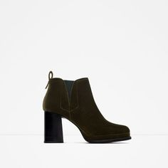 ZARA - WOMAN - HIGH HEEL VELVET BOOTIE