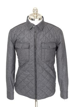 Urban style abound, in this RAG & BONE Grant Shirt Gray Wool Cashmere Quilted Zip Puffer Coat!  |  Find yours! http://www.frieschskys.com/outerwear  |  #frieschskys #mensfashion #fashion #mensstyle #style #moda #menswear #dapper #stylish #MadeInItaly #Italy #couture #highfashion #designer #shopping