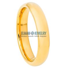 This Wedding Band Ring created from Cobalt Free Tungsten Carbide and made with Comfort Fit design. This ring is ideal as Contemporary Wedding Ring Band, Engagement Ring, Anniversary Band, Gift for His and Her or just for Everyday Wearing. It's a High Polished Gold IP Plated Tungsten Ring Domed  Classic Band. The ring width is 4 mm.    Features:  - Scratch Resistant & Lifetime Guarantee  - Same business day Free Shipping  - Hypoallergenic & Bio-compatible     Item Details:  SKU# TR769EL… Anniversary Bands, Tungsten Carbide, In Writing, Wedding Ring Bands, Cobalt, Engagement Rings, Free Shipping, Contemporary, Business