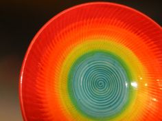 #ceramics #color Textured Ocean Sunset Bowl by Mark Campbell Ceramics on Etsy