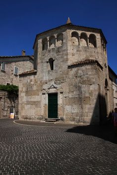 Ascoli PIceno-Marche-Italy Baptistery of San Giovanni in Romanesque style  -Photo by Celo Risi --