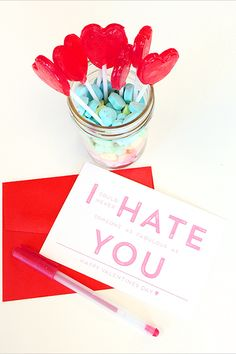 Say ALL The Feelings With These V-Day Cards #refinery29  http://www.refinery29.com/pretty-valentines-day-cards#slide-10  Love is free. And, so is this card. Well, you have to buy the ink and paper. Frienemy Valentine's Day card, free, available at Wedding Chicks.