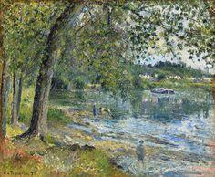 Camille Pissarro Bords de l'Oise à Auvers-sur-Oise [1878] Christie's