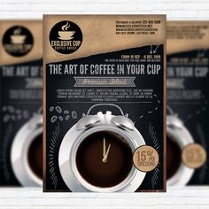Large  Free Psd Coffee Brochure Template    Brochure