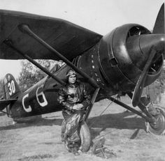 Romanian pilot, Polish plane produced under license by IAR Brasov Ww2 Aircraft, Military Aircraft, V Engine, Ww2 History, Vintage Airplanes, Luftwaffe, World War Two, Wwii, Air Force